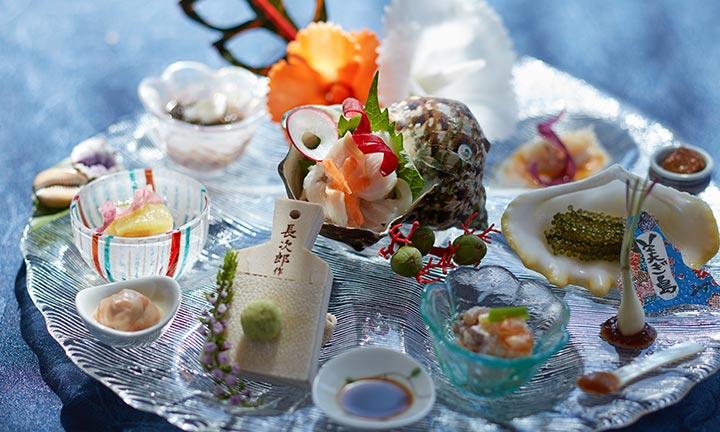 琉球宮古内地の食材盛り合わせ9種盛り。